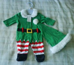 e381f9592ec53 Baby Christmas Elf All In One Babygrow Outfit Fancy Dress Up Costume ...
