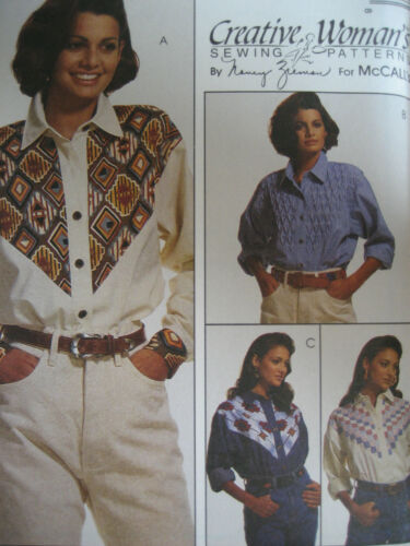 LADIES FABULOUS CREATIVE WESTERN STYLE BLOUSE PATTERN 8-14 FF McCALL/'S #6961