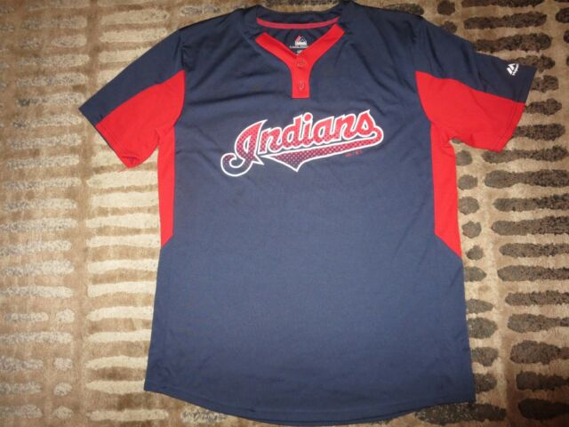 newest 25a29 adb1d Cleveland Indians Majestic MLB Cool Base Batting Practice Jersey