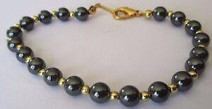 bracelet bijou rétro perles hématites polie et petites perles couleur or 3442 k4j7EnZt-09153039-253101708