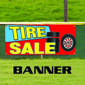 Details about Tire Sale New & Used Auto Body Shop Car Repair Advertising  Vinyl Banner Sign