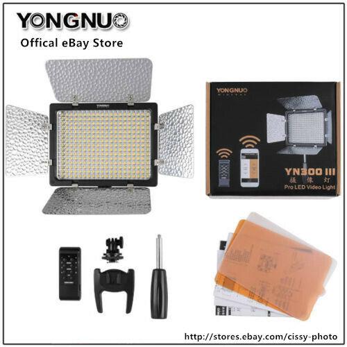YONGNUO YN-300 III LED Camera Video Light for Canon Nikon Olympus Pentax Samsung