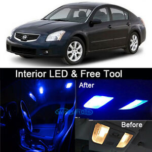 Details About 11pcs Blue Led Interior Conversion Package Lamp Kit For Nissan Maxima 2000 2008