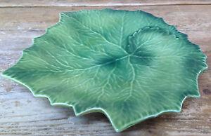 Wiliams-Sonoma-Green-Grape-Leaf-Figural-Plate-Autumn-Harvest-10-034-Italy-Bas-Relie