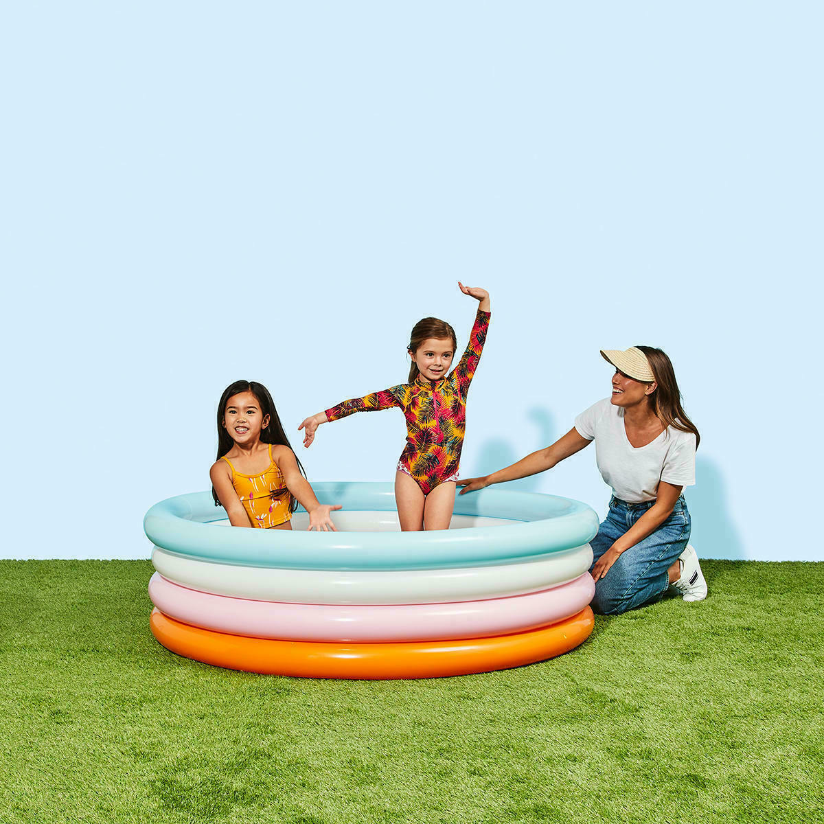 Kids Swimming Pool Above Ground Play Inflatable Round Family Pools Xmas Gifts AU
