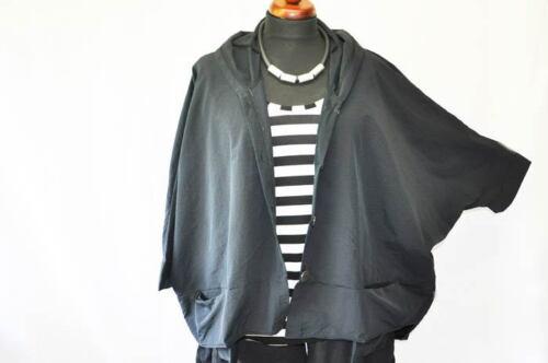XXXL Lagenlook impermeable Big-oversized capucha-recuadro-chaqueta hängetaschen XXL