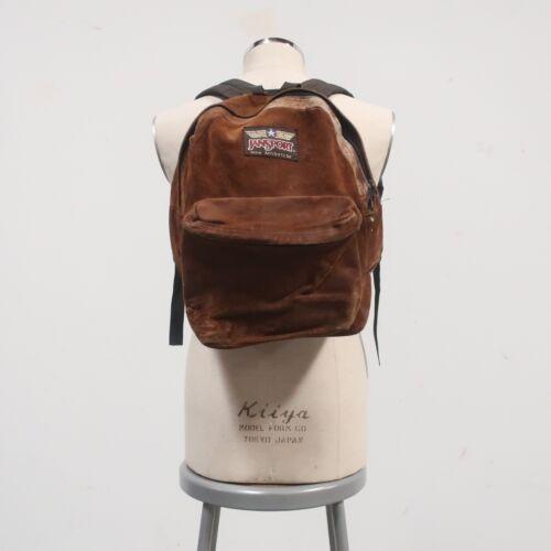 Vintage 90s Jansport Adventure Suede Backpack Leat