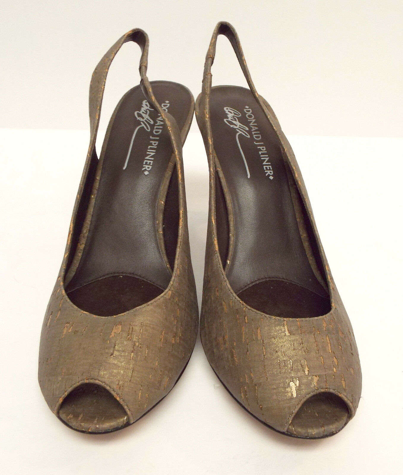 New DONALD PLINER Size Size Size 8 PAPINAWEWE Cork Metallic Heels Pumps shoes 19c43f