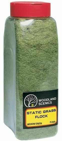 Woodland Scenics Static Grass Flock Medium Green fl635 1mm-3mm length