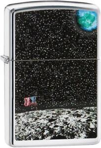 ZIPPO-50th-Anniversary-Moon-Landing-Design-High-Polish-Chrome-Gift-Boxed-29862