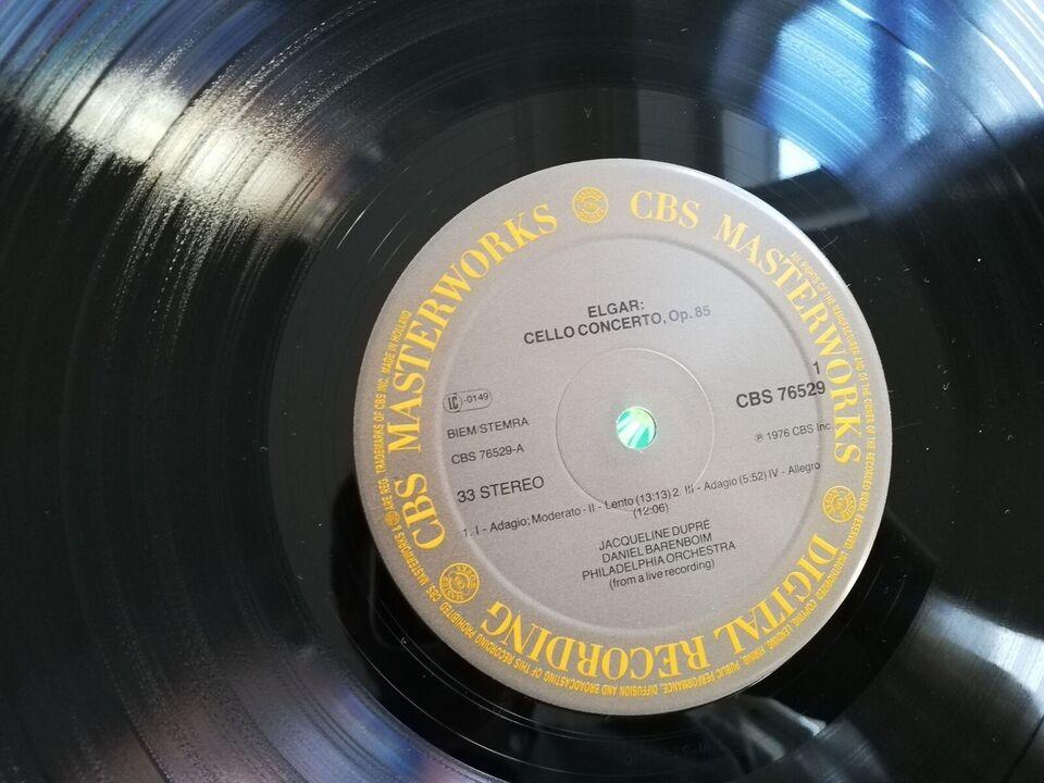LP, Jaqueline du Pre+Barenboim, Elgar cello koncert +