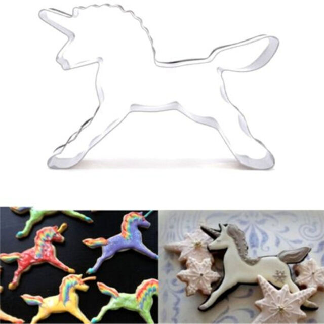 Unicorn Cookies Cutter Mold Cake Decorating Biscuit Pastry Baking Mould New LJ