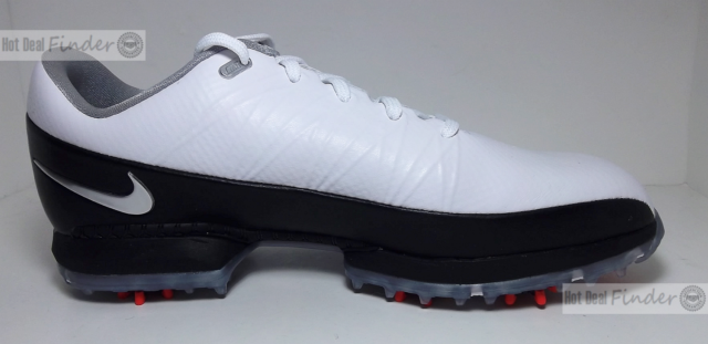 3a0c3195acff9 Nike Golf Air Zoom Attack Mens Golfing Shoes Spikes Cleats White Black 12