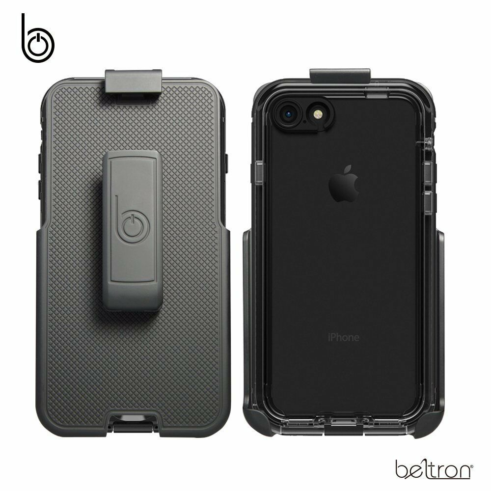 on sale c7207 95f3e Details about Belt Clip Holster fits iPhone 7 8 LifeProof NUUD Case Beltron  Built-In Kickstand