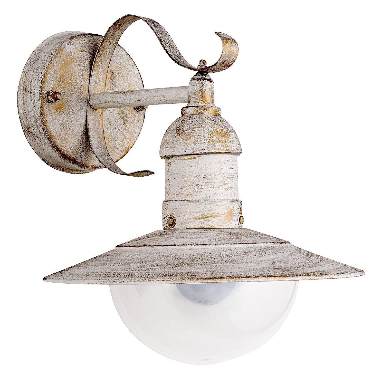 Außenleuchte Hoflampe Wandlampe Shabby Antik-Weiß-Gold IP44 - Rabalux Oslo 8681 | Die Qualität Und Die Verbraucher Zunächst  | Bekannt für seine schöne Qualität  | Stil