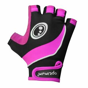 Optimale-Sport-nitebrite-High-Vis-gepolstert-Palm-Haelfte-Finger-Damen-Radfahren-Handschuhe