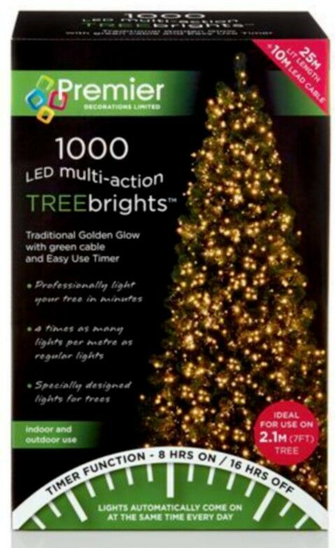 Premier 1000 LED Multi-ACTION treebrights Light oro 25 25 25 M Natale Festa di Natale d465dc
