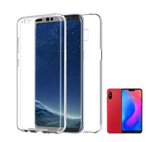 Xiaomi-Mi-A2-Lite-Funda-Doble-Delantera-Trasera-Rigida-Carcasa-360-2-CARAS