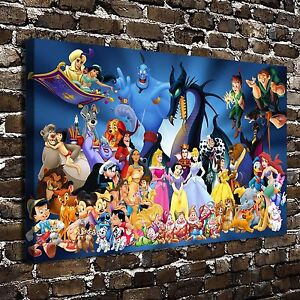 Image Is Loading Disney Character HD Canvas Print 20 034 X32