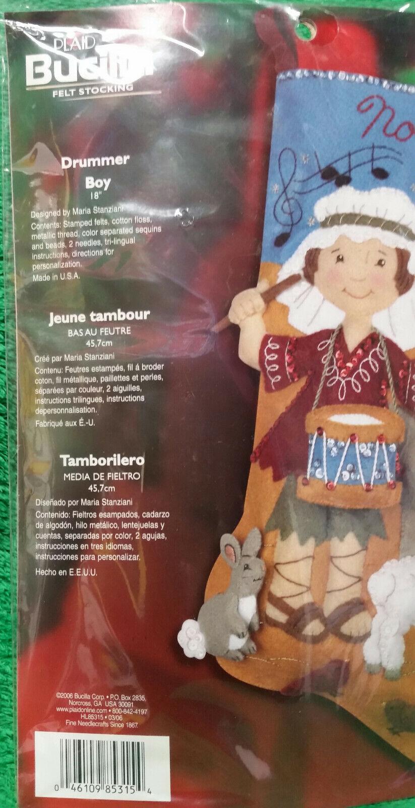 NEW sealed Bucilla Drummer Boy ornament kit set of 6 from 2006 kit # 85338