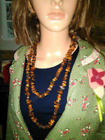 Natural Amber Long Necklace 140 Cm .