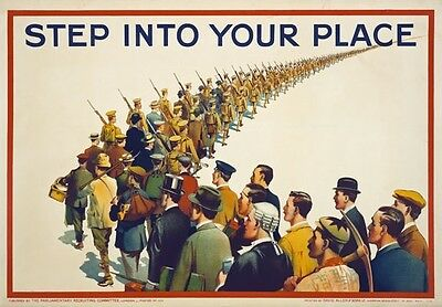 WA120 Vintage WW1 British Step Into Your Place Recruiting War Poster A1/A2/A3/A4
