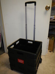Pack-and-Roll-Lightweight-Folding-Shopping-and-Utility-Cart-Black