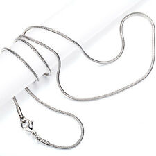 Wholesale Lots 100PCS Silver Stainless Steel Thin 1.6mm Snake Chain 18' Necklace