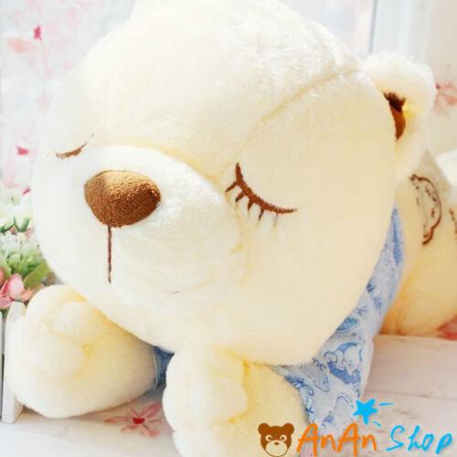 Free Shipping Stuffed Animal Doll Plush Sleepping Teddy Bear Soft Toy Kids Gifts