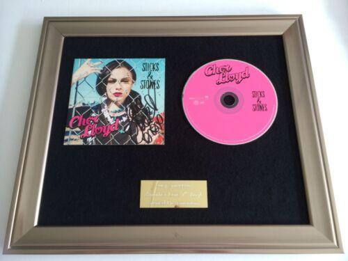 RARE SIGNED//AUTOGRAPHED CHER LLOYD STICKS /& STONES FRAMED CD PRESENTATION