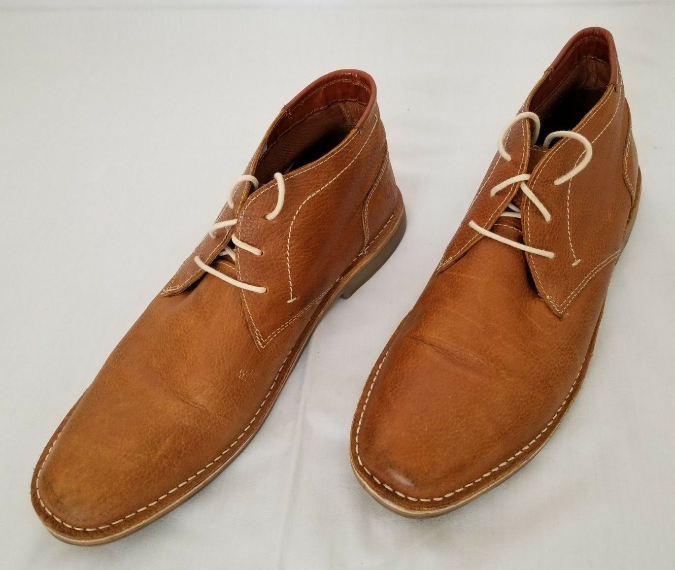 Mens Size 13 Tan Embossed Steve Madden Helman-A Leather Boot shoes preowned