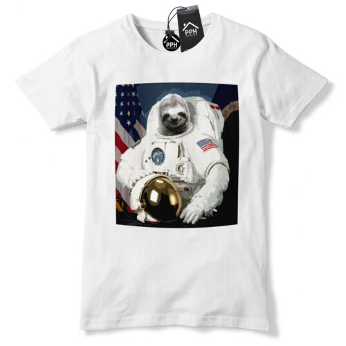 Sloth Astronaut Funny T Shirt Geek Space Galaxy Lazy Animal Tshirt Top tee 506