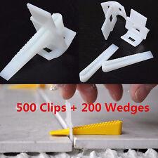 700pcs Tile Leveling System -500 Clips + 200 Wedges Tile Leveler Spacers Lippage