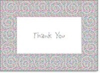 Swirls On Holographic Foil - Box Of 25 Thank You Note Cards By Ps Greetings
