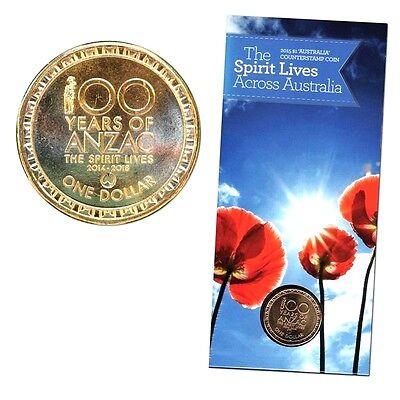 2014 Australia $1 Coin ANZAC Spirit Lives Albany /'AL/' Counterstamp
