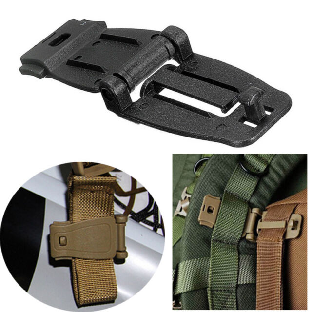 HOT Outdoor Molle Strap Backpack Bag Webbing Connecting Buckle Clip Accessorie