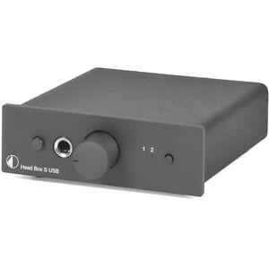 Pro-Ject Head Box S USB (Headphones amplifier incl USB) Black / Black