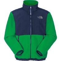 The North Face Boys Triumph Green Navy Blue Denali Fleece Jacket Coat Xs S Or M