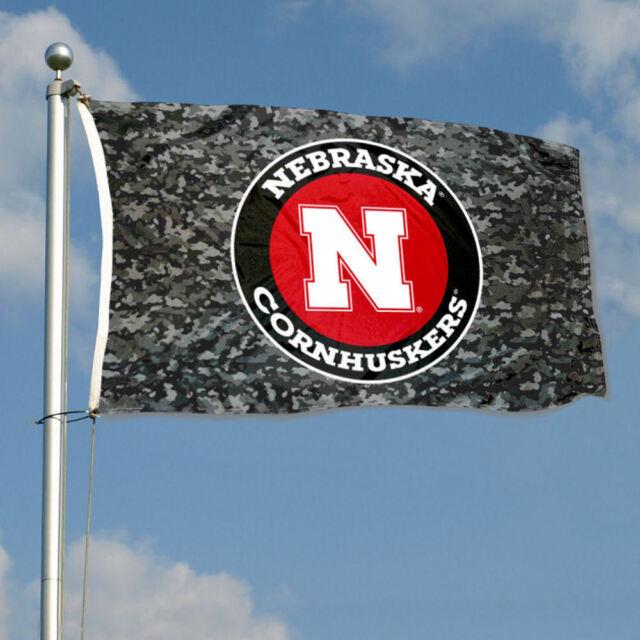 Nebraska Cornhuskers Patriotic Flag NCAA 3X5FT Banner US Shipper