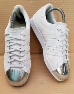 UK STUNNING ADIDAS SUPERSTAR 80'S GREY SIZE TOE SUEDE TRAINERS SILVER METAL about Details IN 6 JFcl1TK3