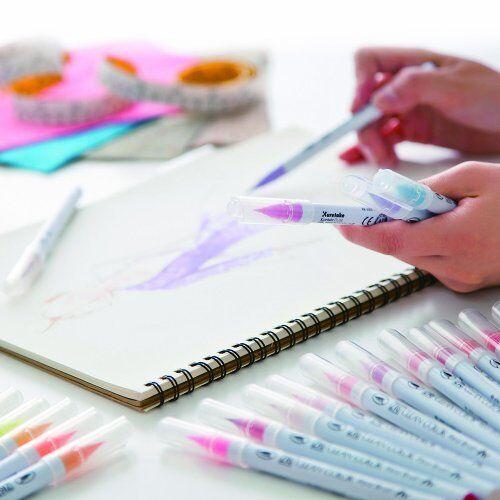 Set Of 60 Colours Kuretake Clean Color Real Brush Watercolour Brush Pens