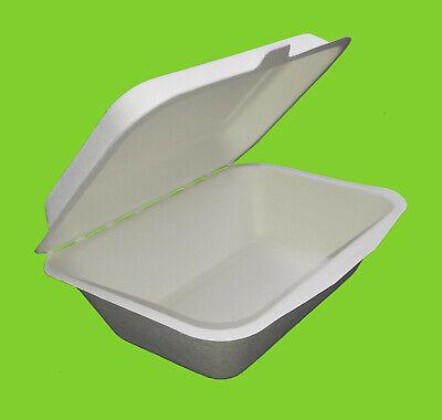 Foodboxen aus Bagasse bio öko 13,5 x 18,5 cm Zuckerrohr 500 Lunchboxen