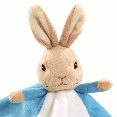 Beatrix Potter Peter Rabbit Comfort Blanket Baby Toy Comforter Pram Toy-Blue