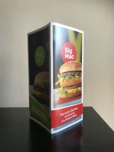 Vintage Mcdonalds Uk Collectable Big Mac 50th Anniversary Promo Display Card Ebay