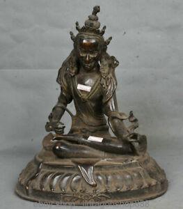 "13.2 ""marque vieux Tibétain Rouge Statue de Bouddha Guru Bouddha Sculpture"