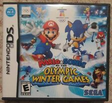 DS Mario & Sonic at the Olympic Winter Games (Box and manual only, NO GAME)