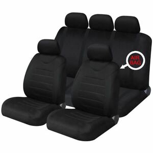Black-Mesh-Full-Set-Front-amp-Rear-Car-Seat-Covers-for-Dodge-Ram-All-Years