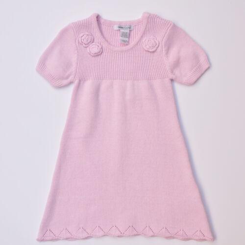H/&M Girls Rib Knit Corsage Dress Pink//Grey Size 1-2Y//2-3Y//3-4Y//4-5Y//5-6Y