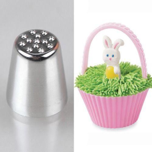Zuckerfertigkeitg YE 2X Gras Haar Icing Nozzle Pelz Nest Piping Rohr Kuchen