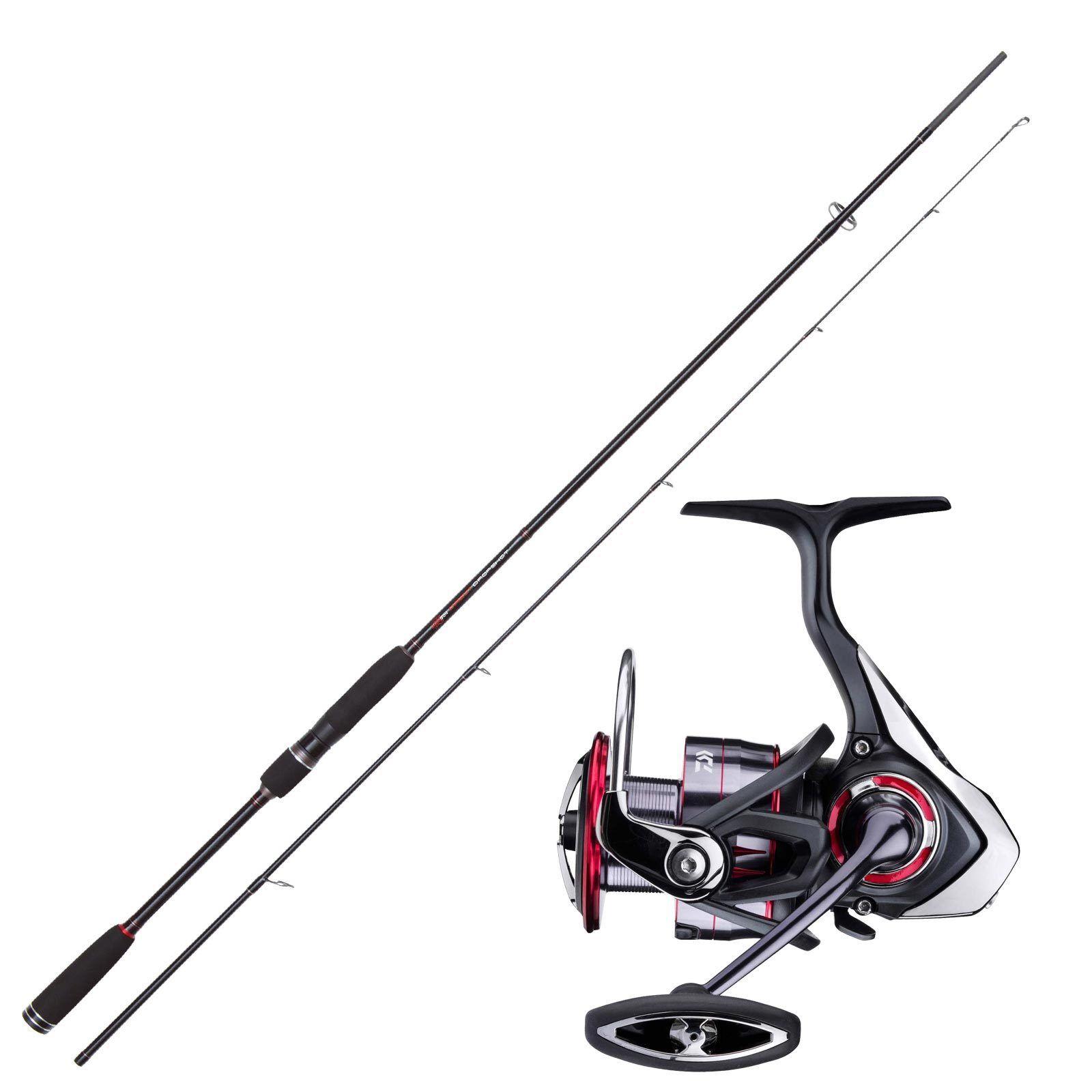Set de pesca drop shot Jackson Drop Shot barra 2, 13 m con combo de Cocherete de pesca Daiwa